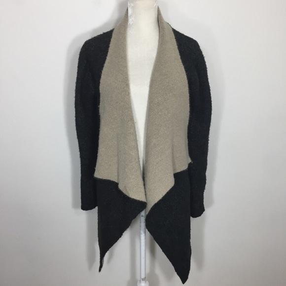 Zara Sweaters   Two Tone Waterfall Knit Cardigan Sweater   Poshmark